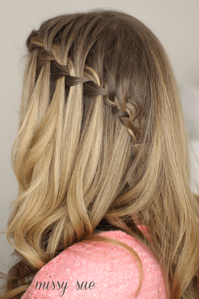 hair style water fall how to do a waterfall braid 3839