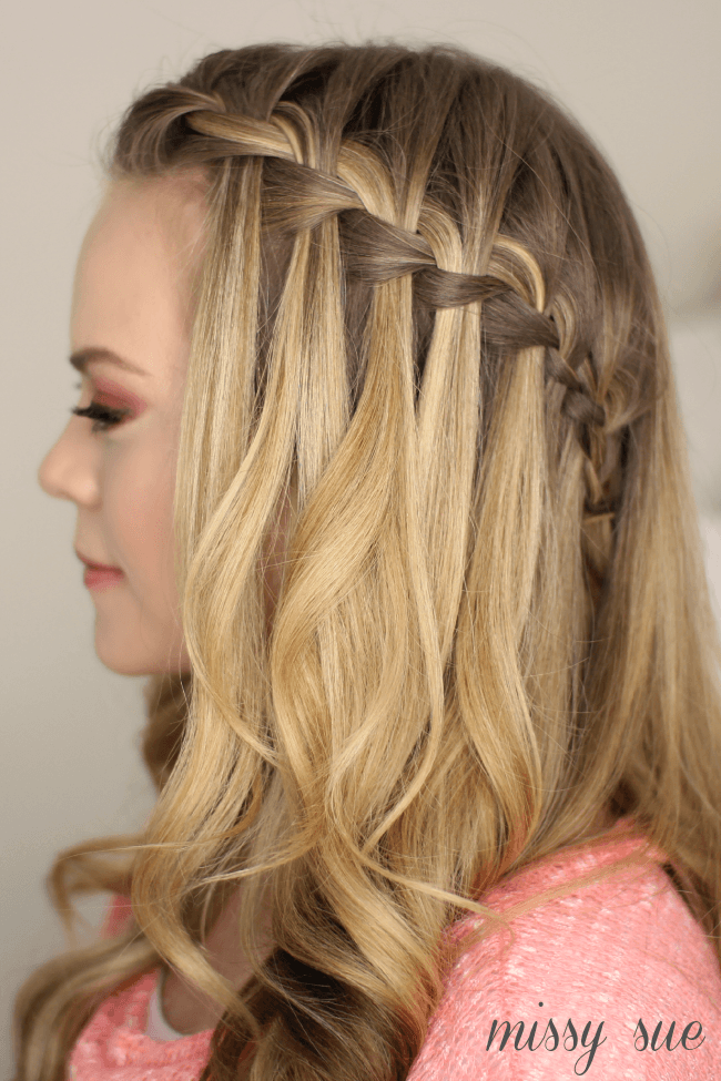 water fall hair styles how to do a waterfall braid 5403