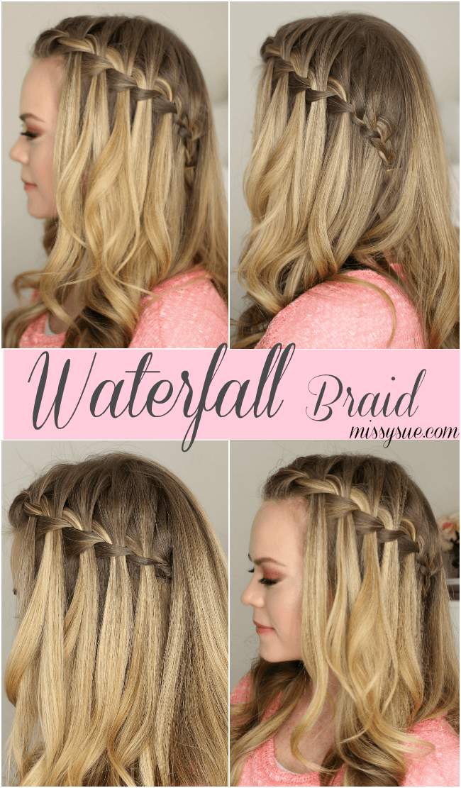 water falls hair style how to do a waterfall braid 8956