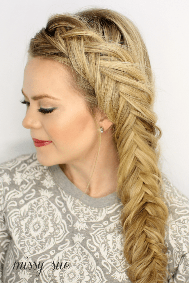 hair side styles fishtail braid 5339 | french braid inverted fishtail braid