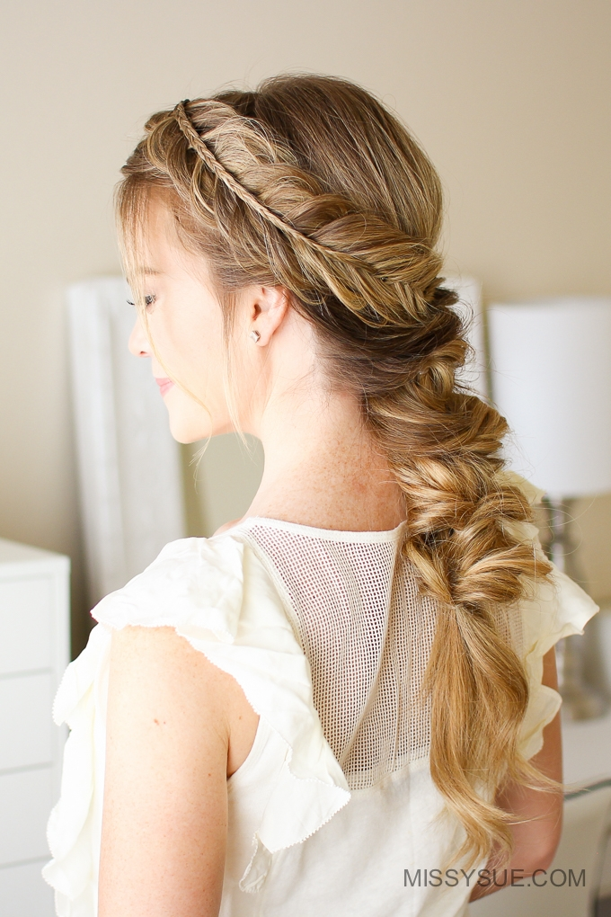 Stacked Fishtail Elastic Braid