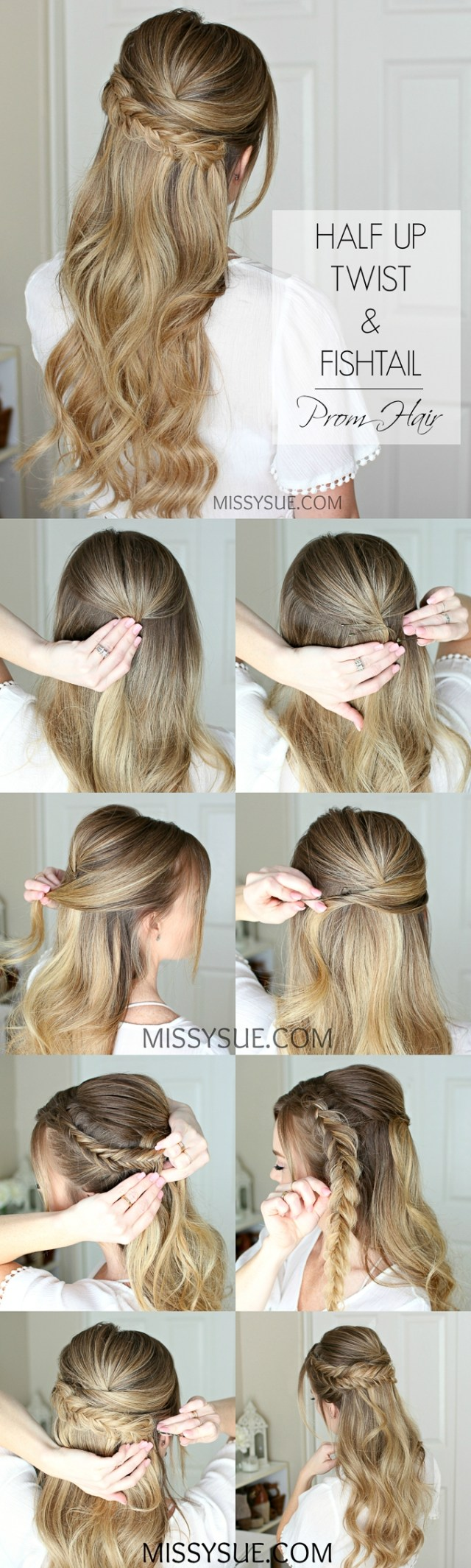 easy half up prom hair | missy sue