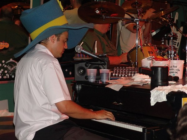 Brian Littleton playing piano during ShareASale's Party at Howl at the Moon - Affiliate Summit East 2006