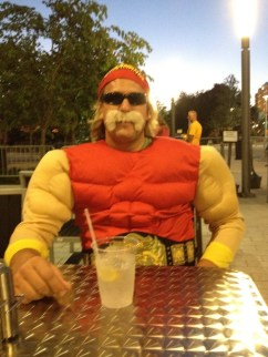 Missy Ward's husband, Beaudon Spaulding as Hulk Hogan during RAW in Orlando