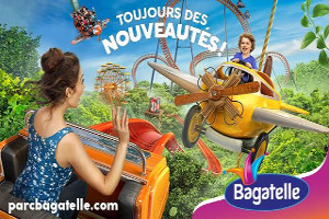 affiche 2018 du Parc d'attraction Bagatelle