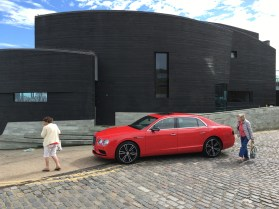 Folkestone locals and Rocksalt regulars give their first impressions to the Flying Spur V8 S