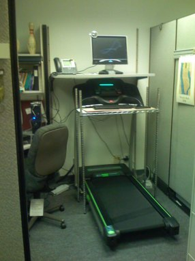treadmill work station