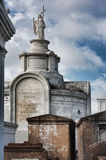 Above-ground graves in Saint Louis Cemetery No. 1, New Orleans