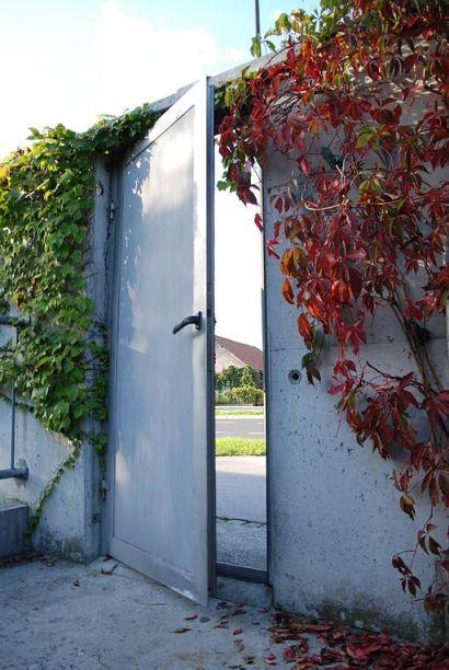door partway open