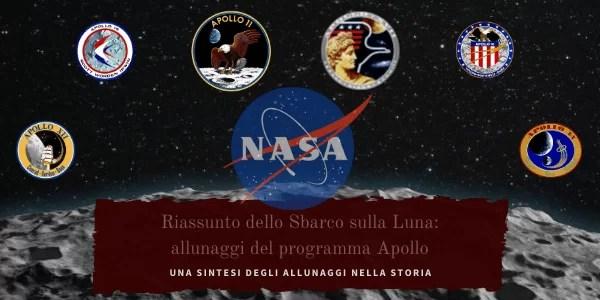 Sbarco sulla Luna: riassunto, allunaggio, programma Apollo