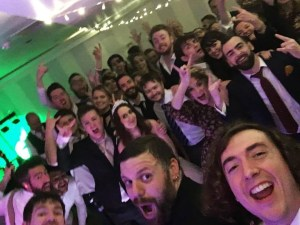 wedding band selfie in dorset