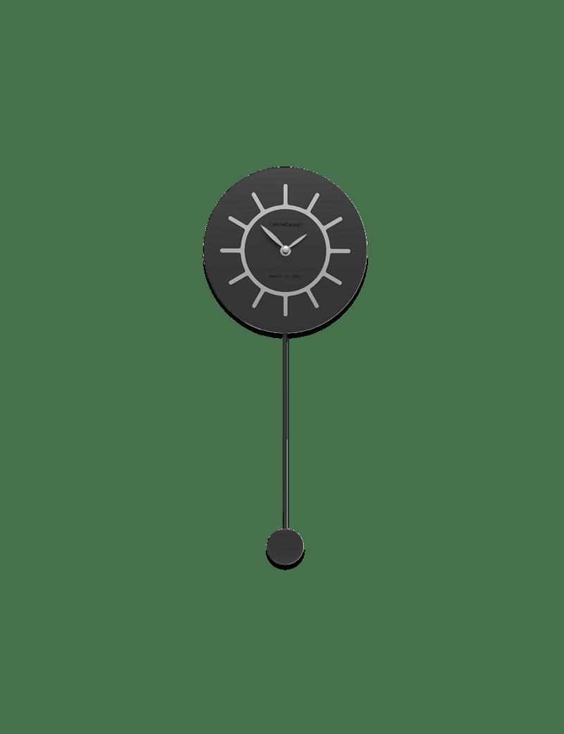 L'orologio a pendolo moderno freebird badass è l'evoluzione ironica del classico. Calleadesign Filippo Orologio A Pendolo Moderno In Legno Nero E Grigio Misterlight It