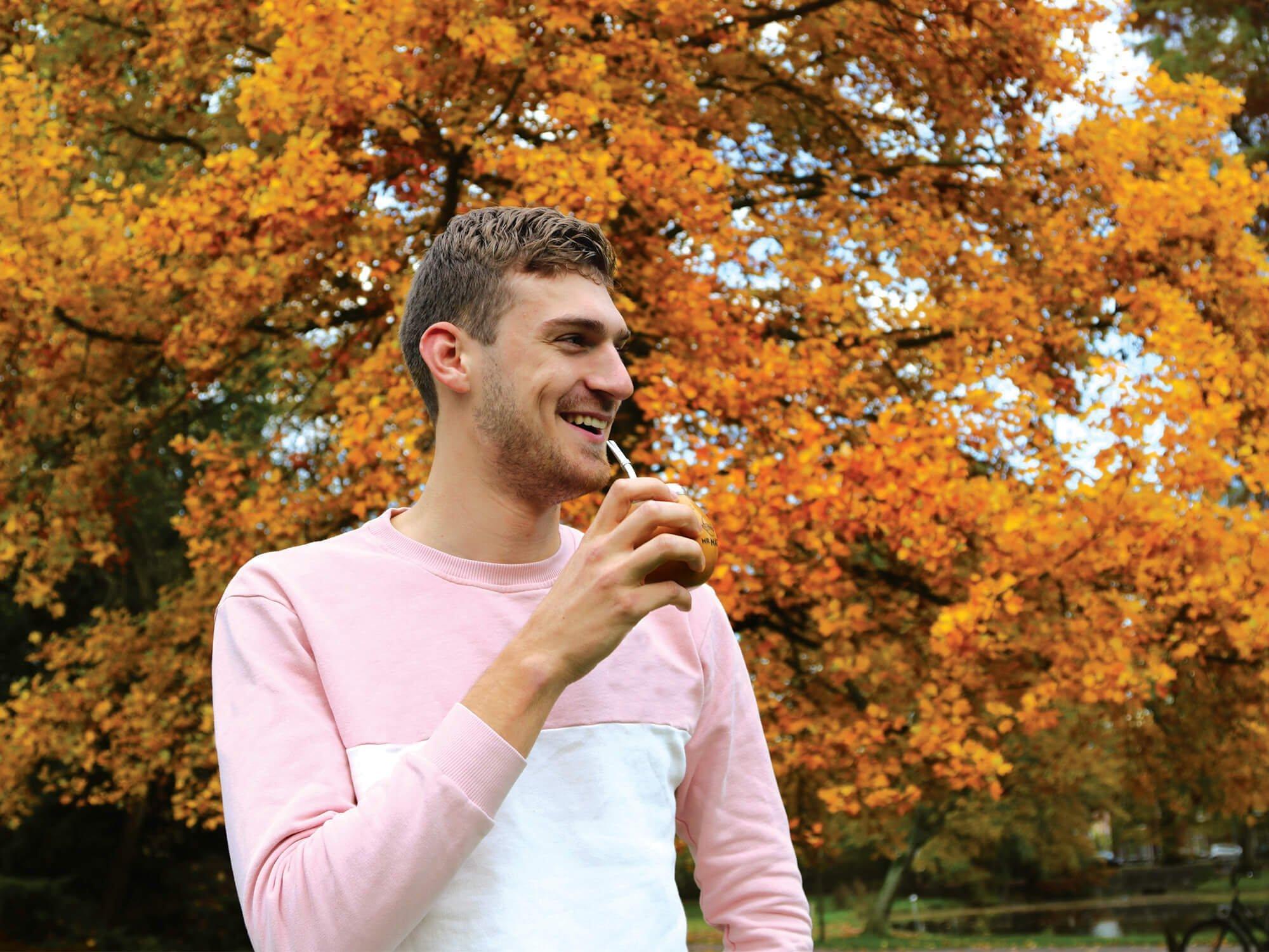 yerba mate drinken herfst lekker