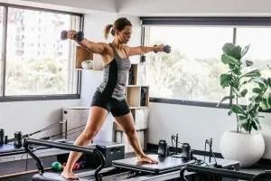 strength training program- girl exercising