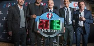 Le panneau Hublot du 4ème arbitre pour l' UEFA EURO 2016