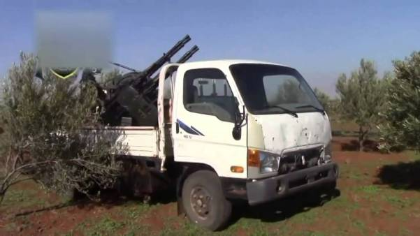 AA guns in Syria (ZPU-4)