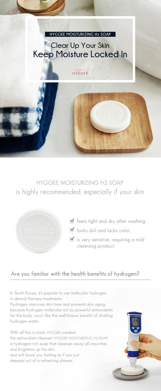 Hyggee All in One Anti-oxidant Hydrogen Soap benefits
