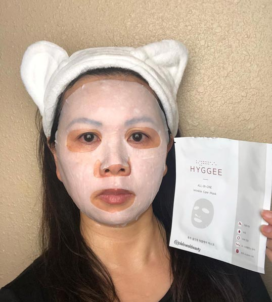 Hyggee All-in-One Wrinkle Care Mask challenge feedback