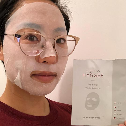 Hyggee All-in-One Wrinkle Care Mask challenge review