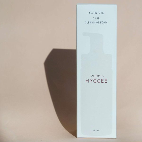 Hyggee All in One Care Cleansing Foam packaging