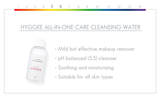 Hyggee All in One Care Cleansing Water soothing and moisturizing