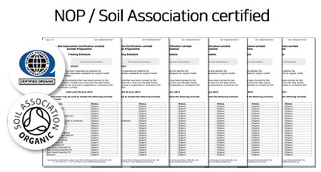 NOP Soil Association certifed URANG NATURAL