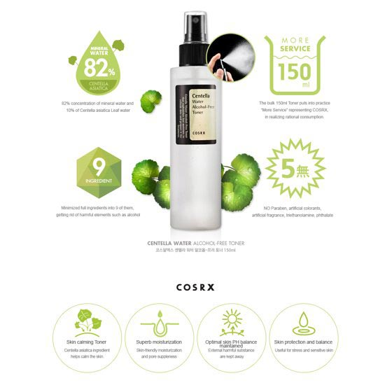 Benefits of the COSRX Centella Water Alcohol-Free Toner