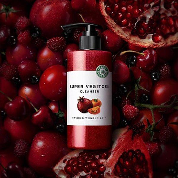 WONDER BATH Super Vegitoks Cleanser Red 300ml reviews feedback how to use