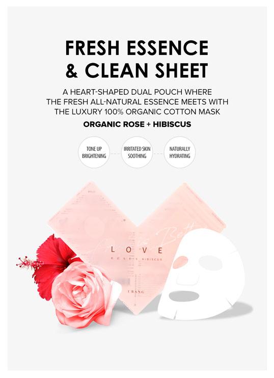 fresh esence and organic cotton sheet mask