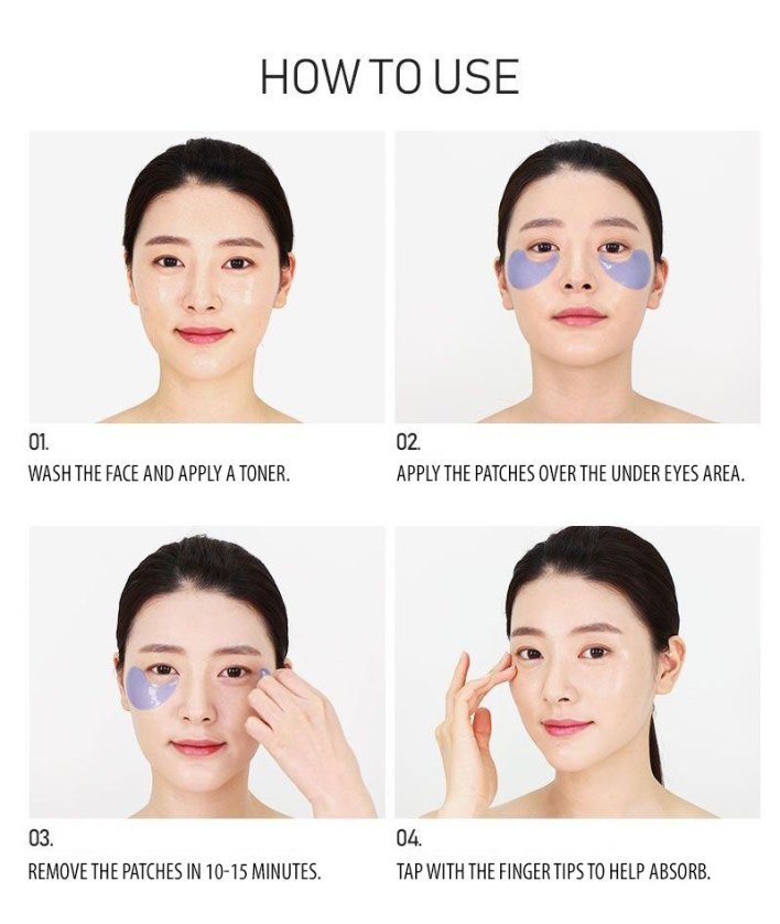how to use the eye patches