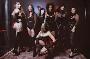 Rainha Vivi, Valentina Severo, Ammy Adams, Domme Elis, Domme Dianna, Mistres V-Black e Lilith Corax