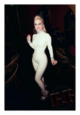 mistress serena white catsuit