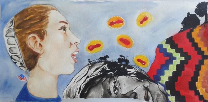 Four Part Harmony - Mixed media painting by Amanda K Gross