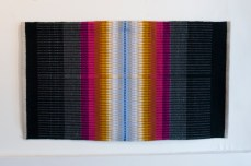 Hibernation; Hand-woven wool on linen by Amanda K Gross