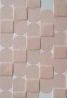 White Camo; Adhesive Bandages on Paper by Amanda K Gross