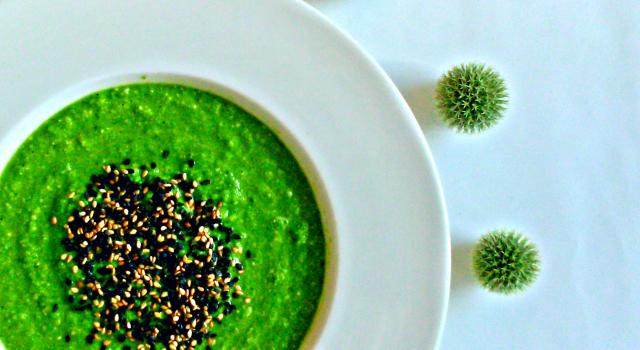 Zielony chłodnik - wegański i bezglutenowy