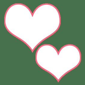Dibujo corazones para aplicar