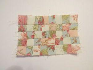 Colchas de patchwork para casas de muñecas coser las tiras