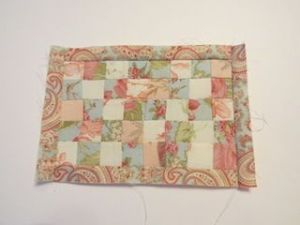 Colchas de patchwork para casas de muñecas coser borde