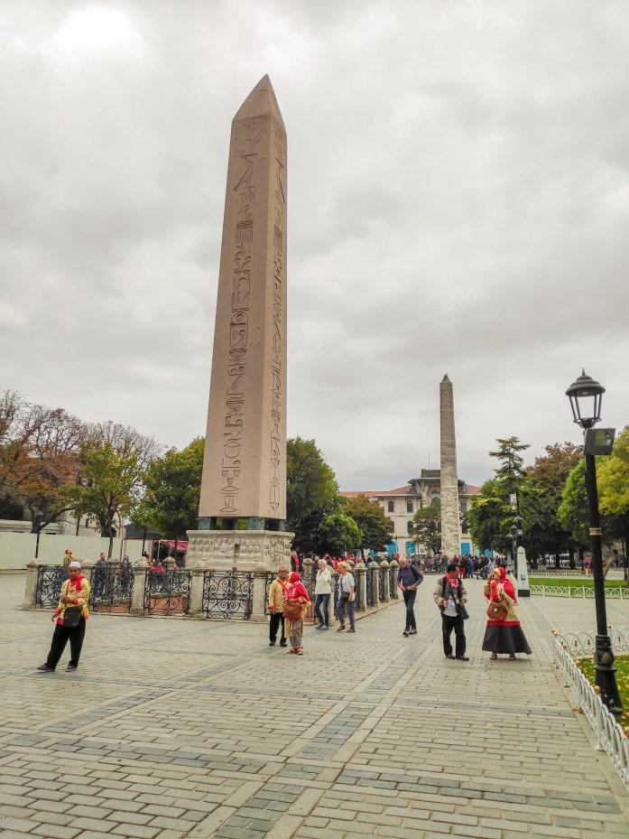 Obelisco Egipcio y Columna de Constantino