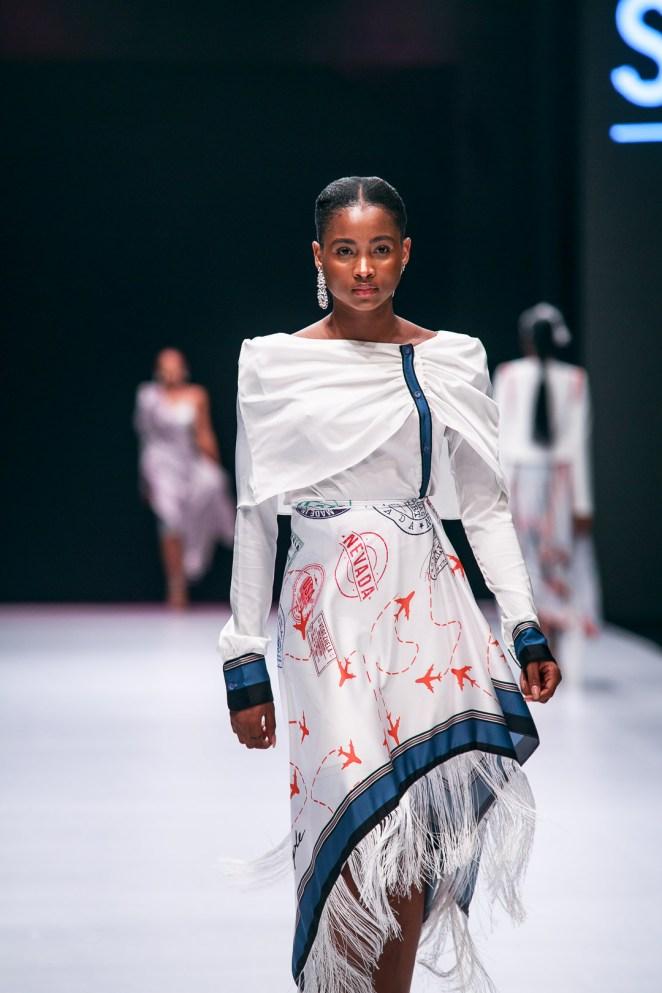 Model on Fashion week runway