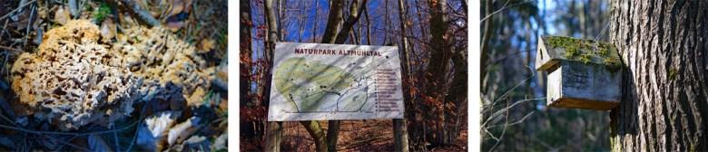 Infotafel Naturpark Altmühltal auf dem Schlossberg-Rundweg bei Heideck im Landkreis Roth
