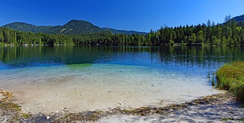 Der Hintersee bei Ramsau im Berchtesgadener Land ist nur selten wärmer als 20 Grad