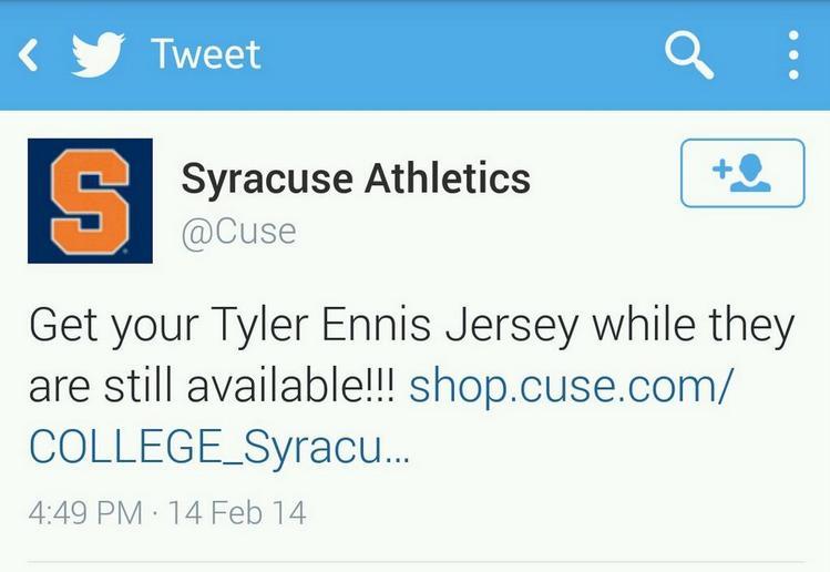 Tyler Ennis Syracuse Jersey