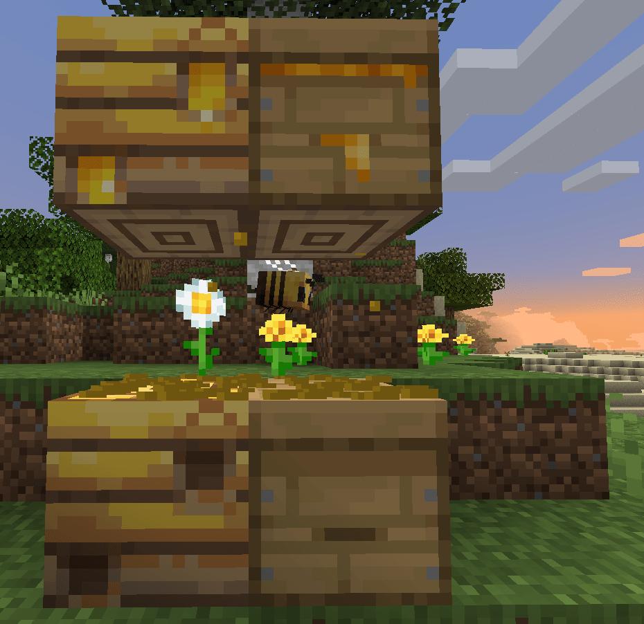 マイクラ 蜂の巣 箱