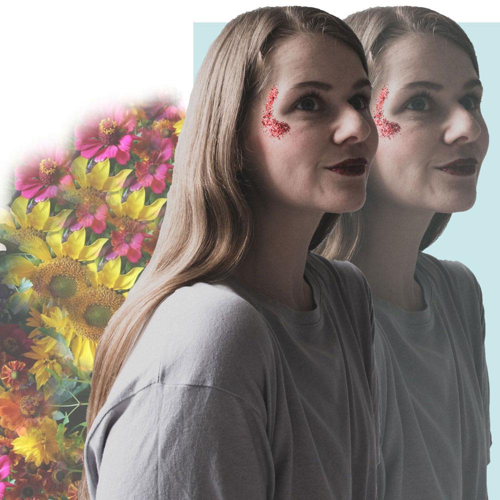 Collage aus Blumen