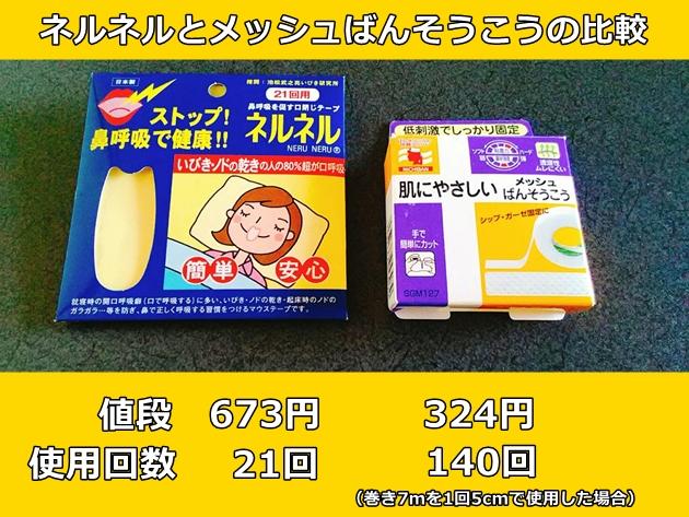 2つの鼻呼吸テープ比較