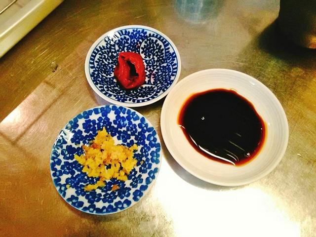 梅醤番茶の材料