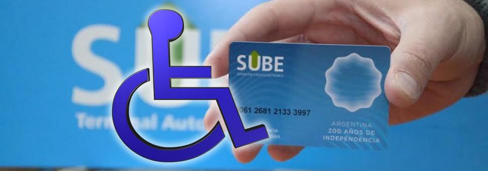 Piden modificaciones en la tarjeta SUBE para beneficio de personas con discapacidad