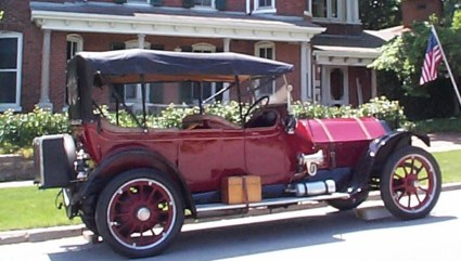 """Our first Mitchell -- a 1914 5-Passenger Touring Car we named """"Mitch."""""""